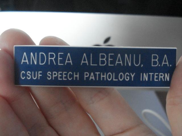 Speech Pathology Intern, so hot right now.